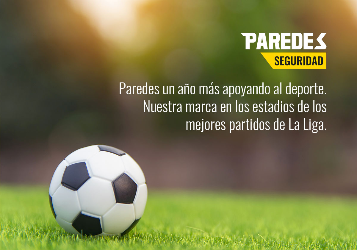 Patrocinio Paredes Seguridad Liga de Fútbol Profesional Calendario Liga Santander 2019 - 2020